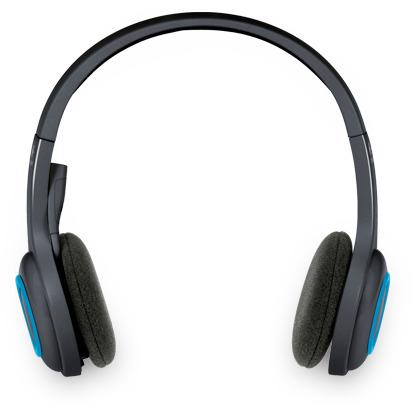 Image of H600 draadloos headset zwart / blauw - Logitech