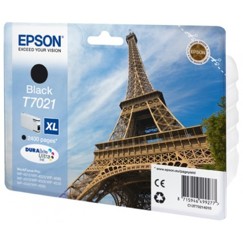 Epson T7021 XL Ink Cartridge Black (Zwart)