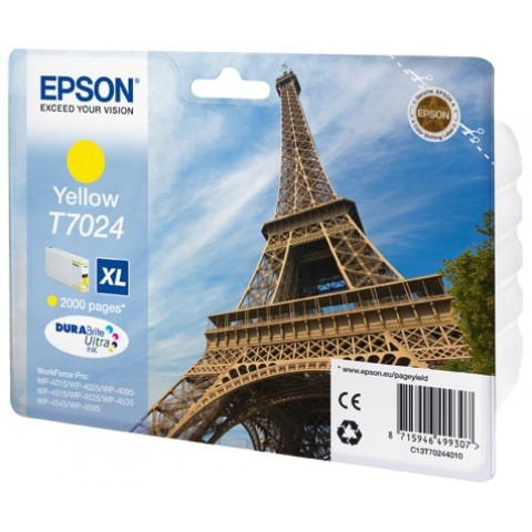 Epson T7024 XL Ink Cartridge Yellow (Geel)