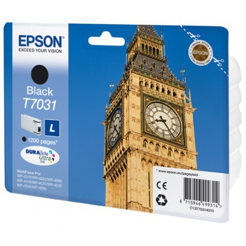 Epson T7031 Large Ink Cartridge Black (Zwart)