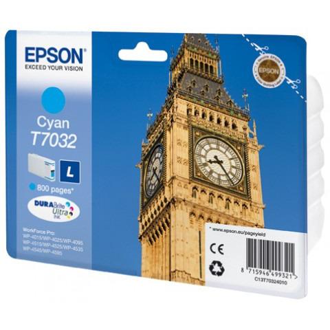 Epson T7032 Large Ink Cartridge Cyan (Blauw)