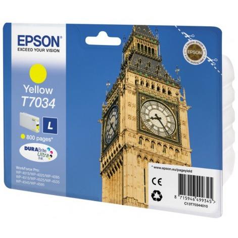 Epson T7034 Large Ink Cartridge Yellow (Geel)