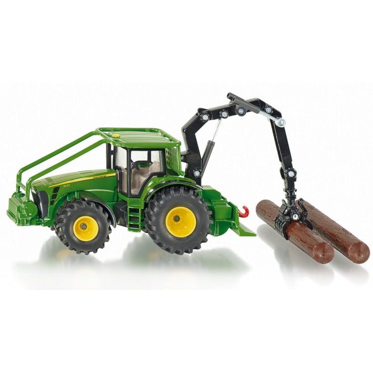 Siku John Deere Bosbouw Tractor - Groen