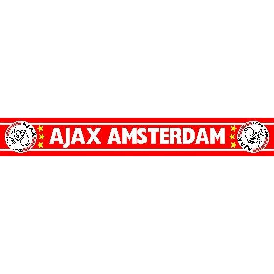 Image of Sjaal Ajax Rood Witte Letters