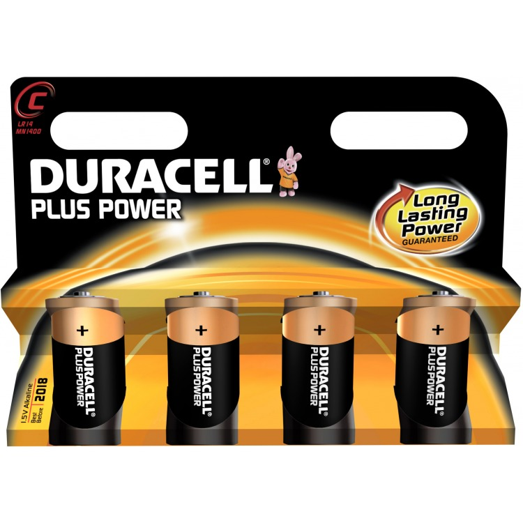 Duracell C4 pack Plus Power