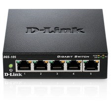 D-Link DGS-105 5-Poorts Gigabit Switch
