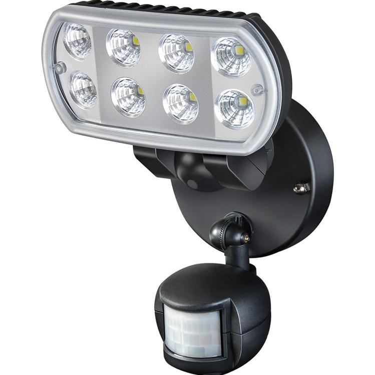 Image of Bewegingsmelder met spot met 8 Nichialedlampjes (elk 1 Watt) - Brennen
