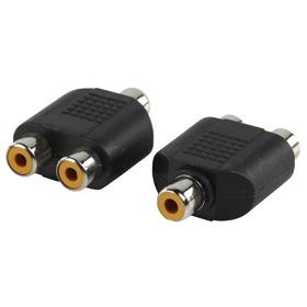 Adapter plug RCA kontra stekker 2x RCA kontra stekker
