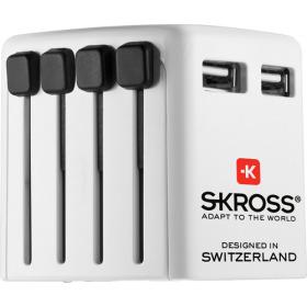 Reis-USB-oplader blisterverpakking wit