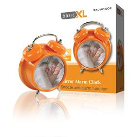 Image of BasicXL BXL-AC40 Spiegelwekker met Alarm Oranje