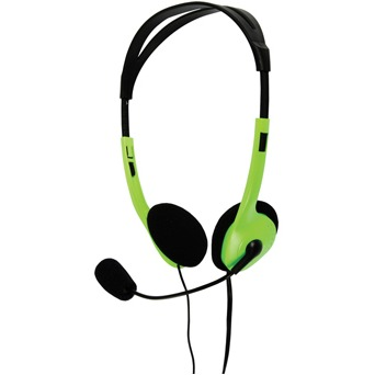 Image of Basicxl Bxl-headset1 gr Draagbare Stereo Headset Groen