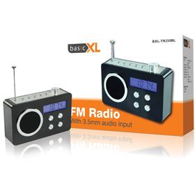 Basic XL BXL-TR250 - Draagbare FM Radio - Zwart
