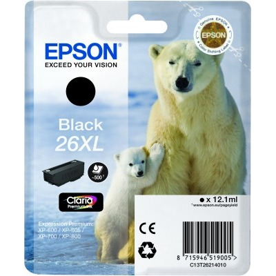 Epson 26 XL Inktcartridge Foto Zwart