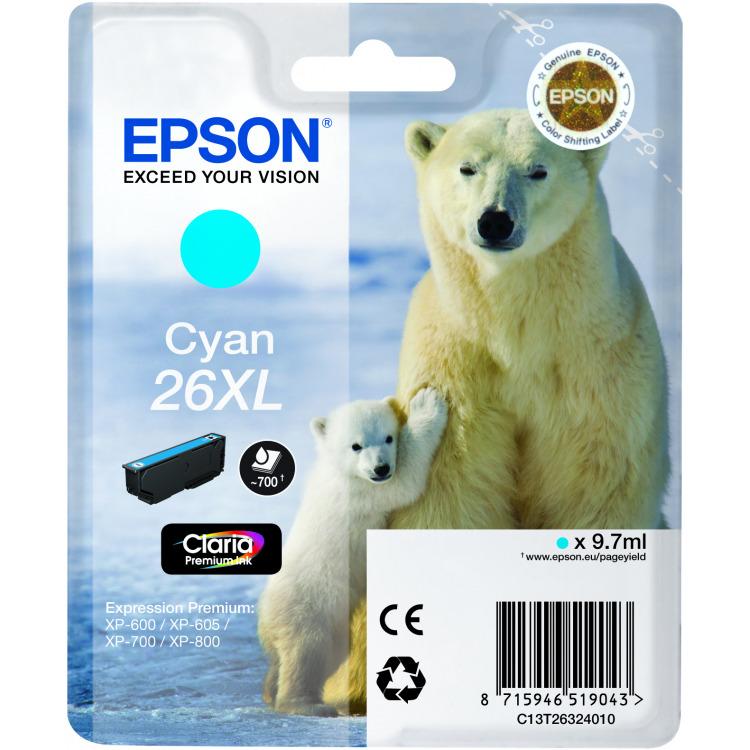 Epson 26XL Cyan Inkt