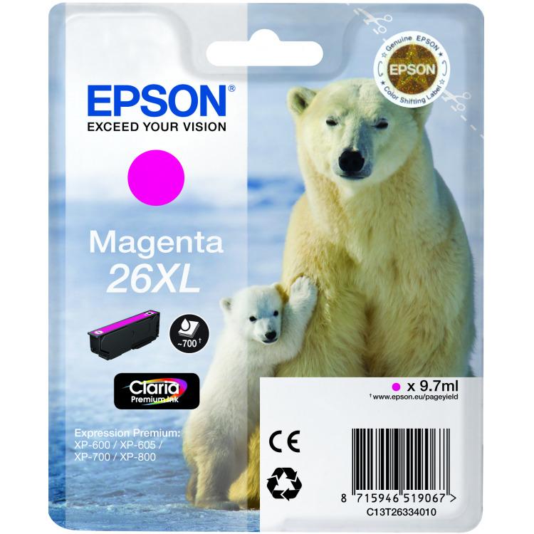 Epson 26XL Magenta Inkt