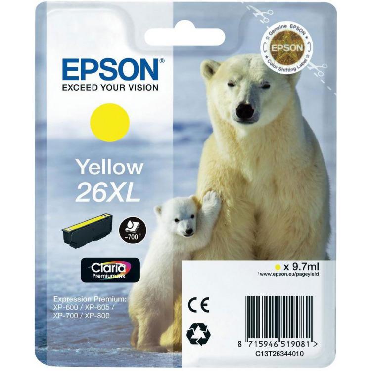 Epson 26XL Geel Inkt