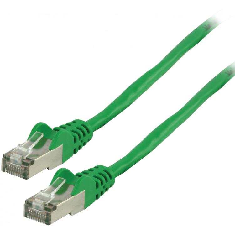 FTP CAT 5e netwerkkabel 0,50 m groen