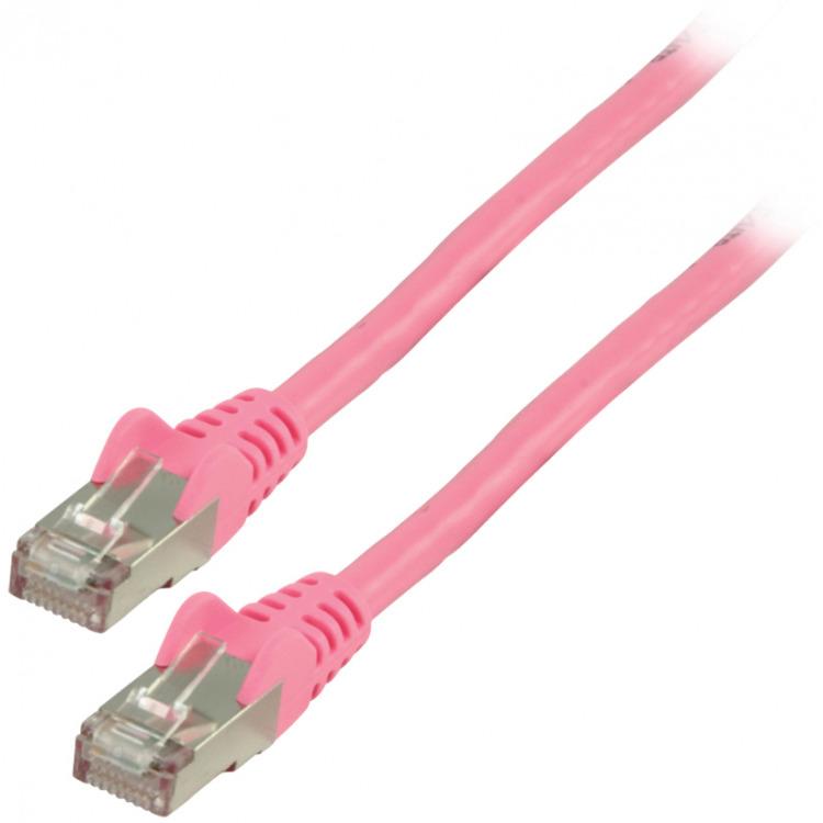 FTP CAT 6 netwerkkabel 0,50 m roze