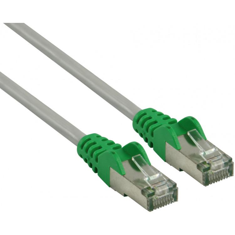 FTP CAT 6 cross netwerkkabel 3,00 m grijs-groen