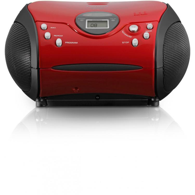 Lenco SCD-24 - Radio/CD-speler - Rood/Zwart