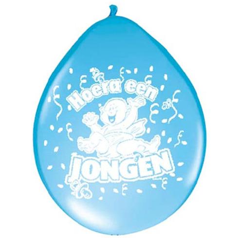 Image of Ballonnen Hoera Een Jongen, 8st.