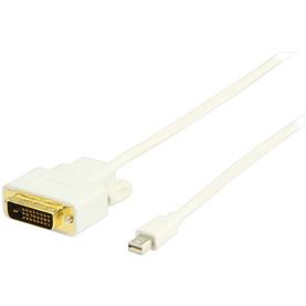 Mini DisplayPort DVI kabel 2,00 m wit