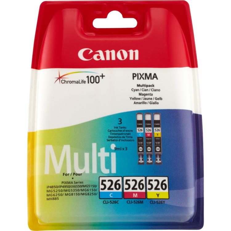 Canon Inktpatronenset »CLI-526 CMY«