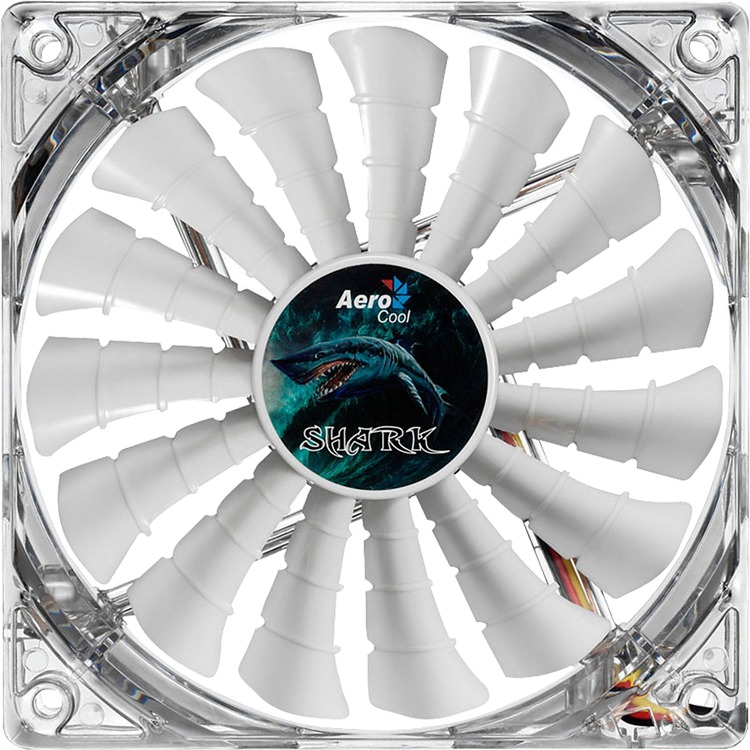 AerocoolShark Fan 12cm White Edition