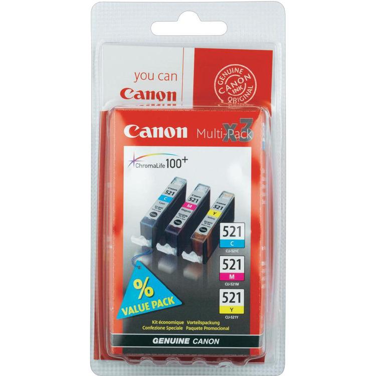 Canon Set inktpatronen »CLI-521 C,M,Y«