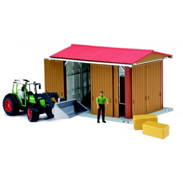 Image of Bruder Landbouwloods Met Tractor 62620