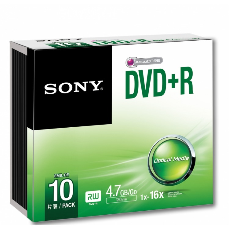 Image of DVD+R 16X Slim Case 10x