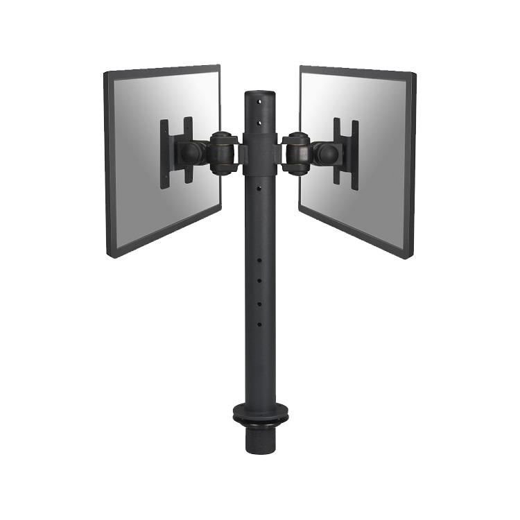 NewStarFPMA-D050D - Draaibare monitorarm - Geschikt voor 2 schermen van 10 t/m 26 inch - Zwart