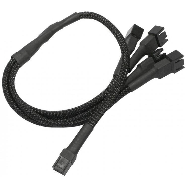 3-Pin Koeler naar 4x 3-Pin Koeler adapter 30 cm