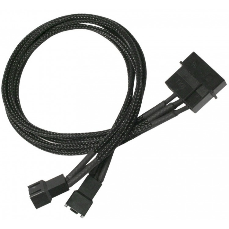 4-Pin Molex naar 2x 3-Pin Koeler adapter 30 cm