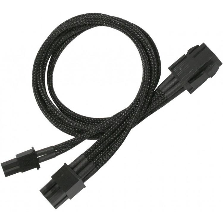 Nanoxia PCI-E 6- to 6+2-Pin Adaptor, 30 cm, Single Sleeve (900100023)