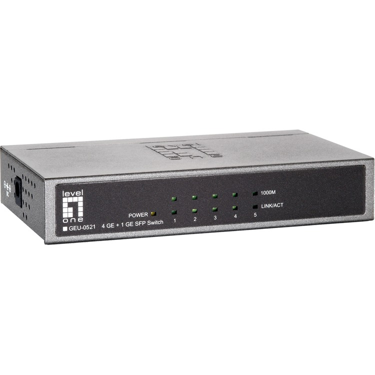 GEU-0521 4 Port 10/100/1000Mbps Gb