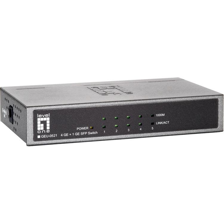 GEU-0521 4 Port 10/100/1000Mbps Gb