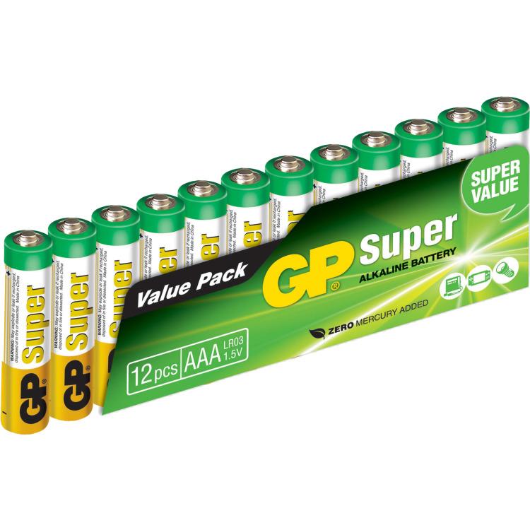 Valuepack 12x AAA-batterijen