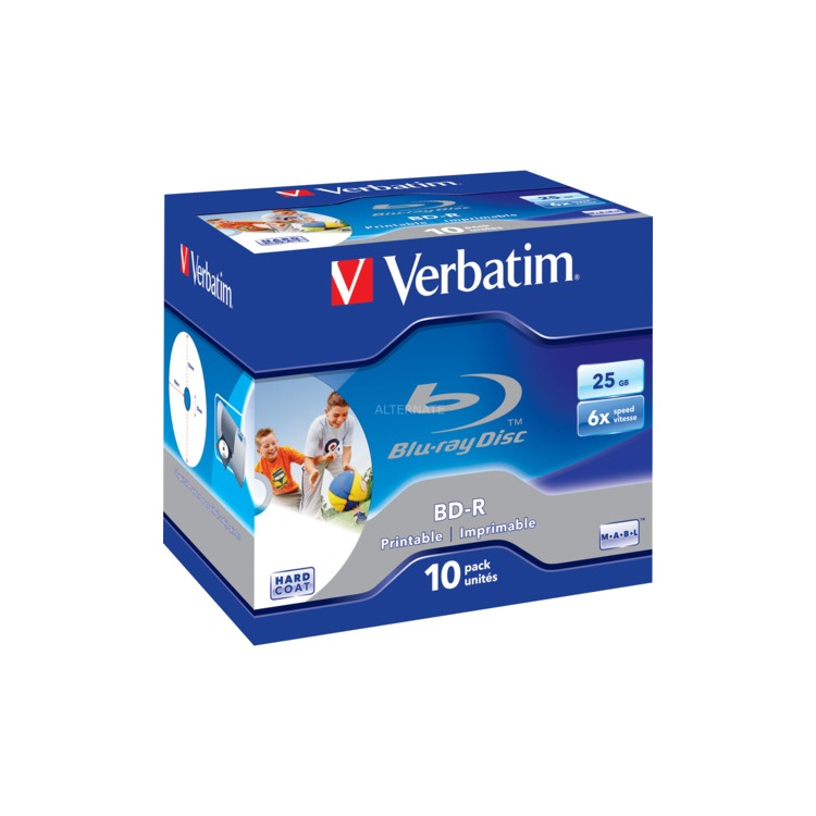 BD-R 10-Pack Jewel Case 25GB Printbaar