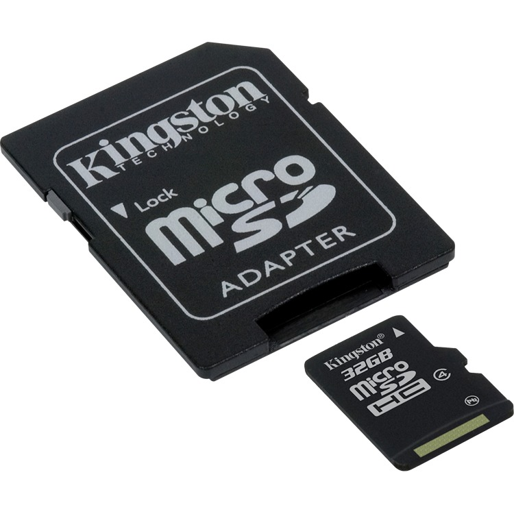 KINGSTON Micro SD C4 32GB inclusief SD adapter