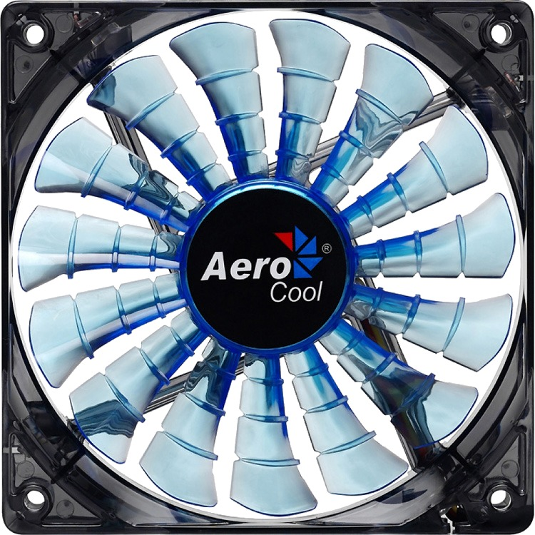 Image of Aerocool Shark Fan Blue Edition 12cm