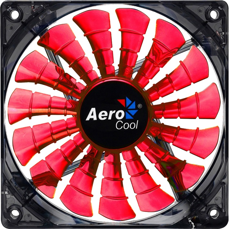 Sharkfan Red Led 120x120x25