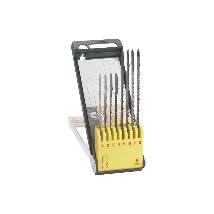 Bosch Set zaagbladen hout/metaal/kunststof, 8-delig