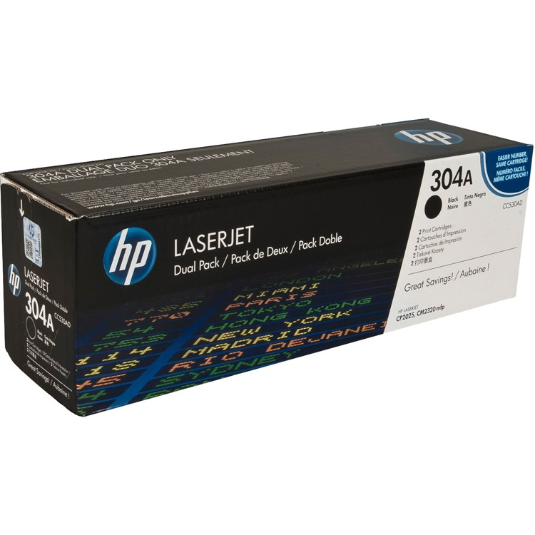 HP Dubbelpak inktpatronen »HP CC530AD«
