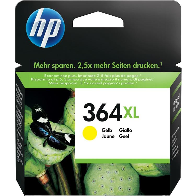 HP 364 XL GEEL (CB325EE) Inkt Cartridges