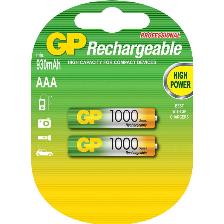 GP Batteries NiMH rechargeable batteries AAA