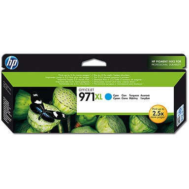 HP 971XL Cyan Ink Cartridge (CN626AM)