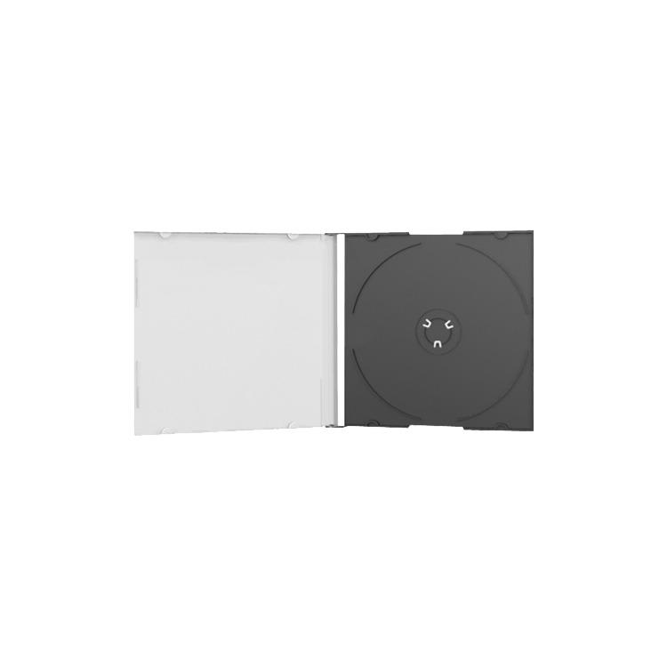 MediaRange Jewelcase Single black tray