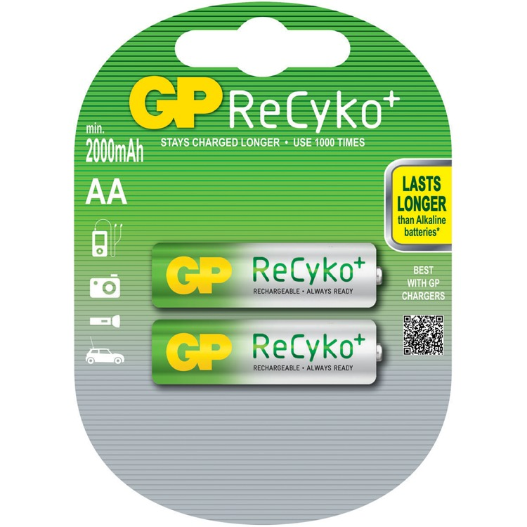 GP Batteries ReCyko+ AA