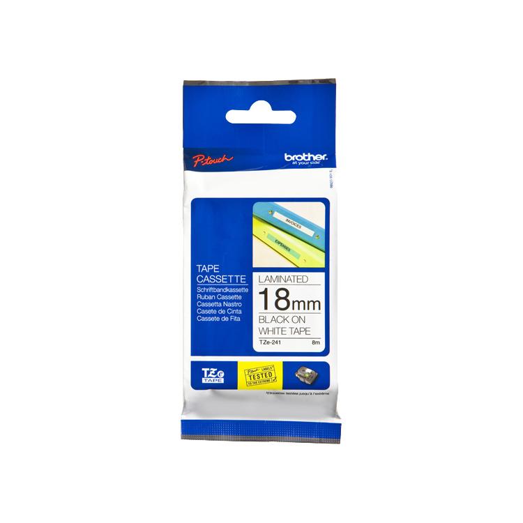 Image of 18mm Tape Zwart Op Wit TZ-241